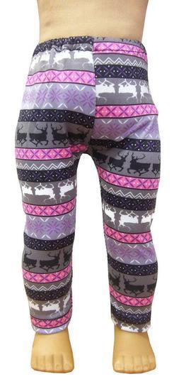 "Reindeer Fair Isle Leggings for 18"" American Girl Doll Cloth"