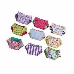 Reversible Baby Doll 9-Pack Cloth Diaper Set, Assorted
