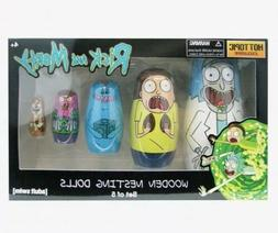 Rick And Morty Wooden Nesting Dolls Set Of 5 Hot Topic Exclu