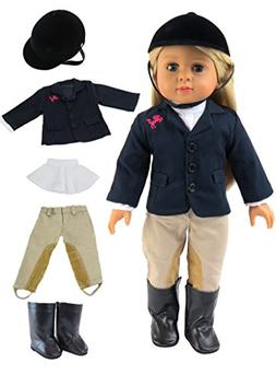 "Riding Outfit with Helmet and Boots- Fits 18"" American Girl"