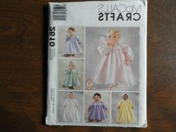 s 2610 uncut pattern baby doll clothes