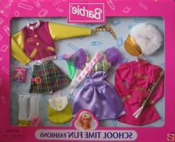 Barbie School Time Fun Fashions w Majorette, Prom Queen & Co