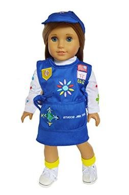 My Brittany's Girl Scouts Embroidered Daisy Outfit For Ameri
