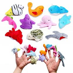 10 pcs Sea Animal Finger Puppets for Children,You Story Doll