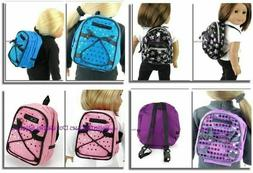 """Sequin Backpacks 3 Colors 18"""" Doll Clothes Accessory For Ame"""
