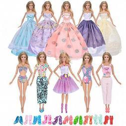 - ebuddy Fashion 20pcs/Set Doll Clothes Include 6pc Random