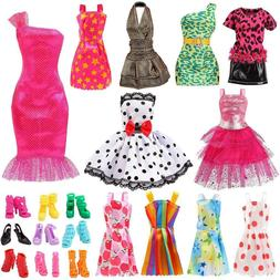 "Set for 11"" Barbie Dolls Clothes Accessories"