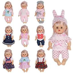 Huang Cheng Toys Set of 10 for 12 Inch Alive Baby Doll Handm