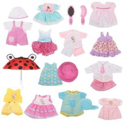 Huang Cheng Toys Set of 12 Handmade Lovely Baby Doll Clothes