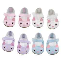 Set Of 4 Kitten Doll Shoes Fits 18 Inch American Girl Doll C