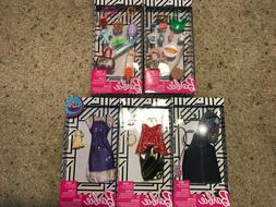 Set of 5 Barbie FASHION PACK Doll Clothes Outfits Accessorie