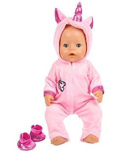 ebuddy 2pc/Set Unicorn Costume Jumpsuit Doll Clothes with Sh