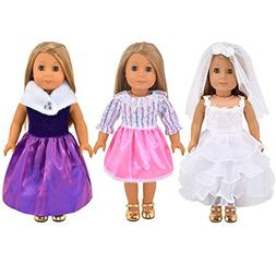 Ebuddy 3pc/Set Wedding Dress and Pricess Elegant Dress Style