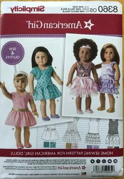 "Simplicity Sewing Pattern 18"" American Girl Doll Clothes - 1"