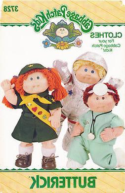 "BUTTERICK SEWING PATTERN 3728 16""/40.5CM CABBAGE PATCH DOLL"