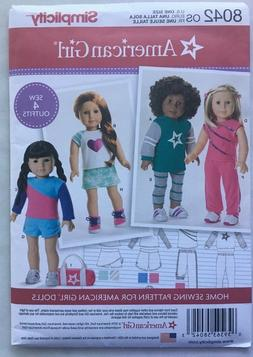 "Simplicity Sewing Pattern 8042 American Girl 18"" Doll Clothe"