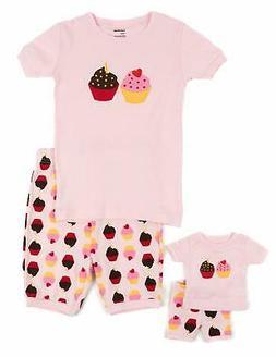 Leveret Shorts Kids & Toddler Pajamas Matching Doll & Girls
