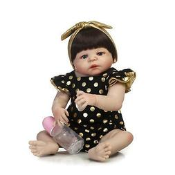 "Full Body Silicone Reborn Baby Girl Doll Reborn Victoria 23"""
