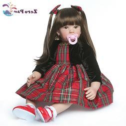 Silicone Reborn Toddler Doll 24in Lifelike Princess Girl Bro