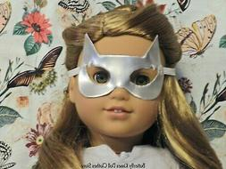 """Silver Kitty Cat Halloween Mask 18"""" Doll Clothes Fit America"""