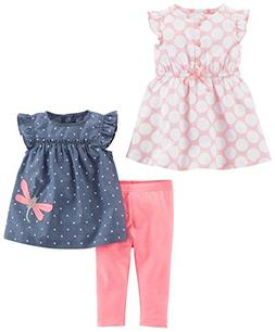 Simple Joys by Carter's Baby Girls' 3-Piece Playwear Set, Pi