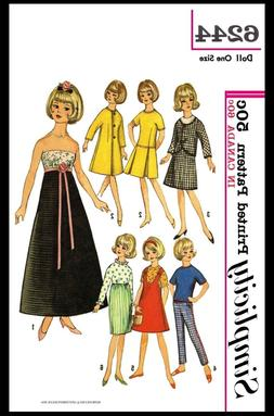 Simplicity 6244 Fashion DOLL Fabric Sewing Pattern TAMMY Jan