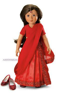 """Doll Clothes 18"""" SLIM Indian Sari Skirt Top Shoes Jewel Fit"""
