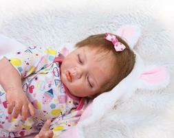 Sleeping Baby Doll 22 inch Soft Touch Lifelike Reborn Doll N