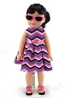 American Fashion World Sleeveless Chevron Pattern Dress | Fi