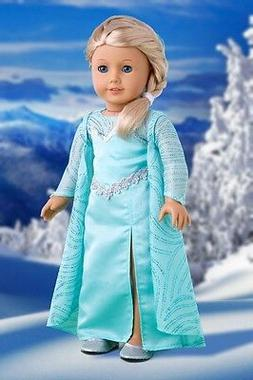 DreamWorld Collections - Snow Queen - Long Turquoise Dress w