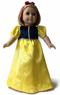 Snow White 3 piece Costume made for 18 inch American Girl Do