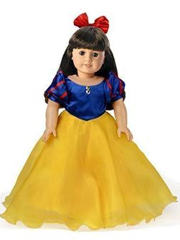 2PC. Snow White Costume Set Doll Clothes for 18 Inch America