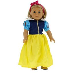 "Dress Along Dolly Snow White Inspired Doll Clothes for 18"" D"