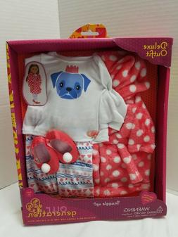 "Our Generation Snuggle Up! PJs 18"" Doll Clothes Robe Pajamas"