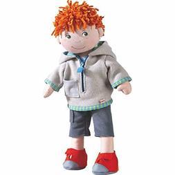 """HABA Soft Boy Doll Fabian 13.5"""" with Red Hair, Green Eyes an"""
