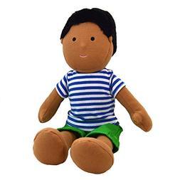 One Dear World 32cm Soft Rag Doll - South Asian Boy Parth wi