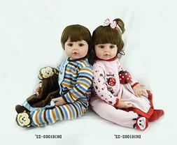 Pinky Soft Silicone Reborn Baby Girl Boy Dolls Twins Lifelik