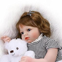 """Soft Silicone Realistic Reborn Toddlers Girls Baby Dolls 28"""""""