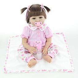 Gbell Soft Silicone Reborn Baby Dolls Girls 22 Inch Cloth& P