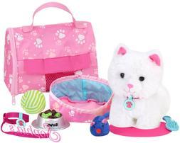 "Sophia's JL-KA Soft White Kitten & Accessory Set | 18"" Doll"