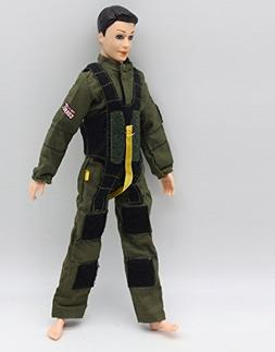 Soldier Firemen Police Cop Army Combat Uniform Outfit for Ke
