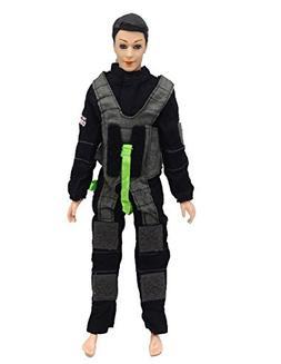 Soldier Firemen Police Cop Army Combat Uniform Outfit for Ke