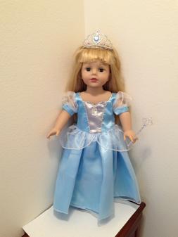 "Sophia Doll Clothes New Blue Princess Dress Fits 18"" America"