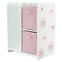 18 Inch Doll Furniture | Floral Design Open Wardrobe 18 Inch