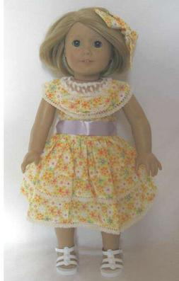 "Summer Dress Repro for  American Girl Thirties Kit 18"" Doll"