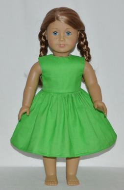 Summer Green Doll Dress Clothes Fits American Girl Dolls