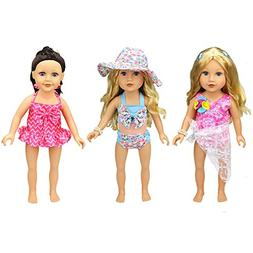 XADP 6 Pc. Summer Holiday Beach Party Swim Suit for 18 Inch