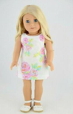 Summer Shift Dress American Made Doll Clothes For 18 Inch Gi