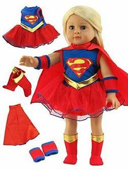 American Fashion World Super Girl Costume - 18 Inch Doll Clo