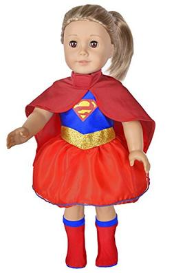 Ebuddy Super Girl Hero Set Include Cloak Dress and Stocking